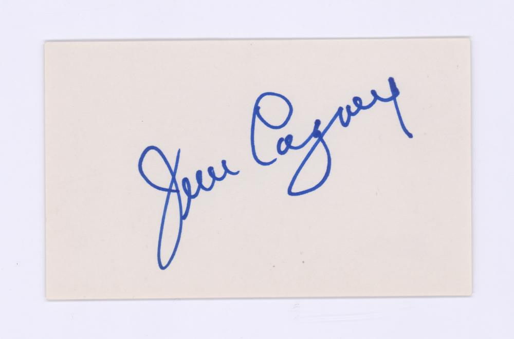 Lot 699: James Cagney Signed Index Card Beckett COA