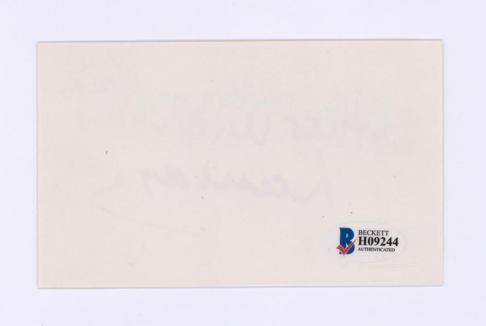 Lot 717: Ester Williams Signed Index Card Beckett COA