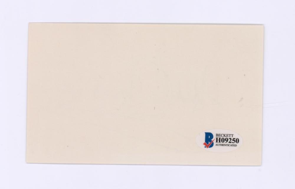 Lot 713: Dudley Moore Signed Index Card Beckett COA