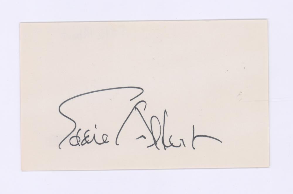 Lot 715: Eddie Albert Signed Index Card Beckett COA