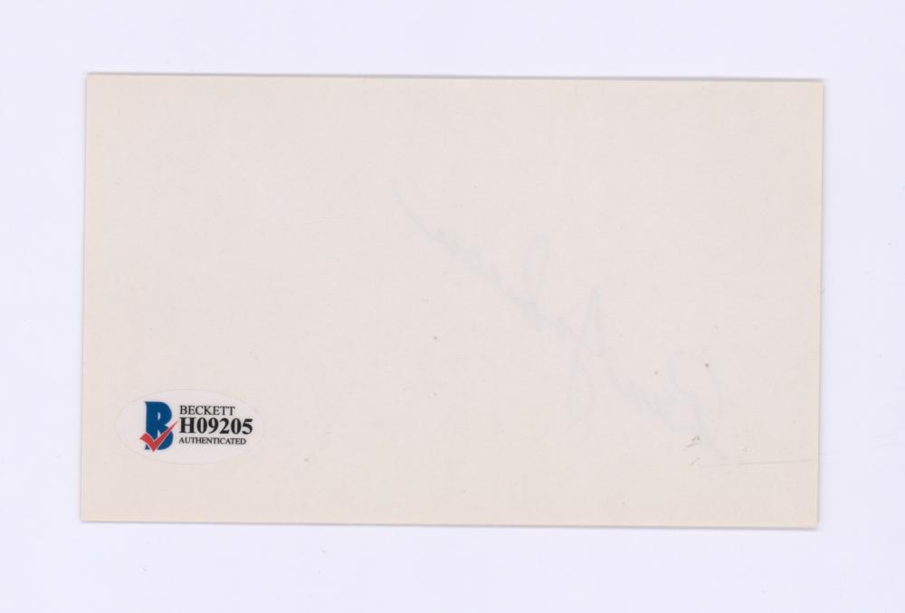 Lot 724: Ben Johnson Signed Index Card Beckett COA