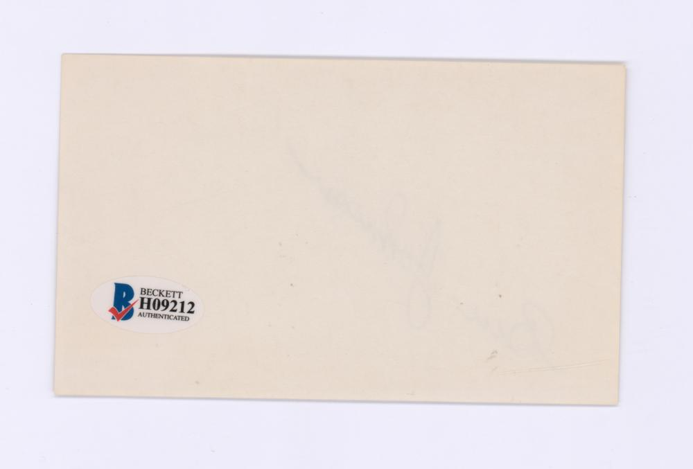 Lot 730: Ben Johnson Signed Index Card Beckett COA