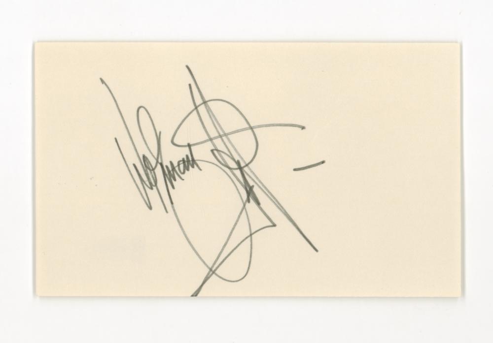 Lot 741: Wolfman Jack Signed Index Card Beckett COA