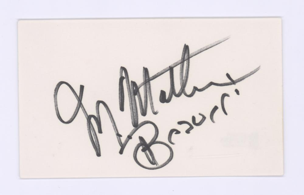 Lot 734: Jerry Mathers Signed Index Card Beckett COA