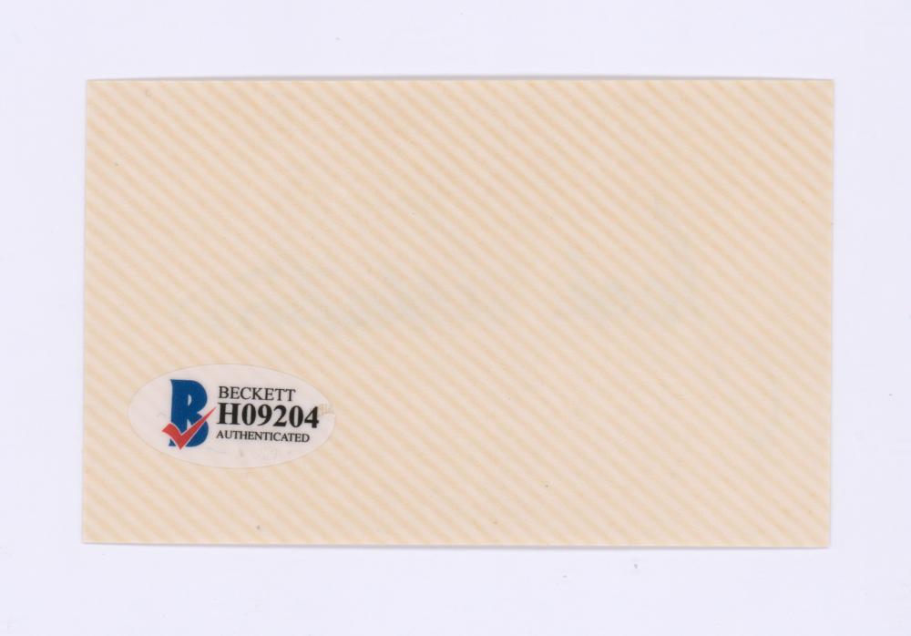 Lot 737: Jack Albertson Signed Index Card Beckett COA