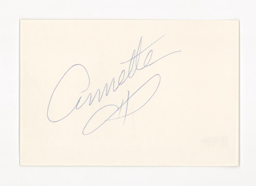 Lot 746: Annette Funicello Signed Index Card Beckett COA