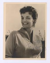 Lot 754: Jane Russell Signed Sepia Toned Photo PSA/DNA