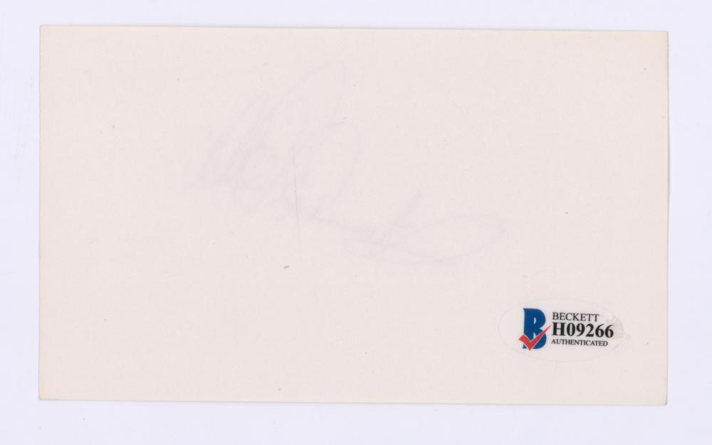 Lot 749: Frankie Valli Signed Index Card Beckett COA