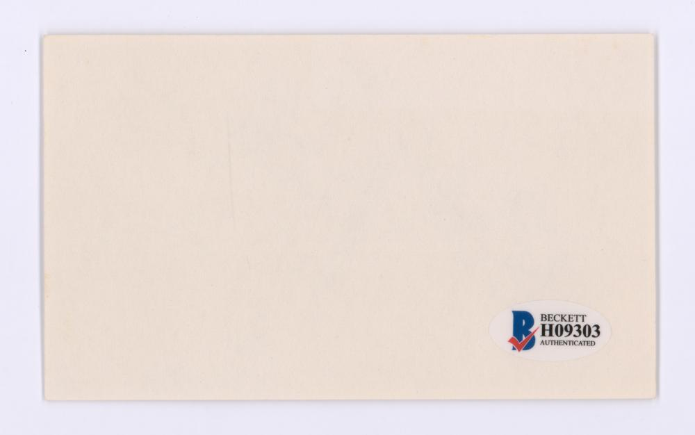 Lot 748: Bobby Vinton Signed Index Card Beckett COA