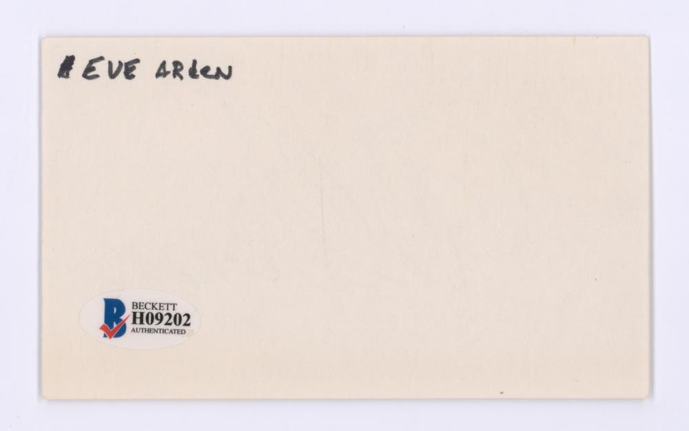 Lot 752: Eve Arden Signed Index Card Beckett COA