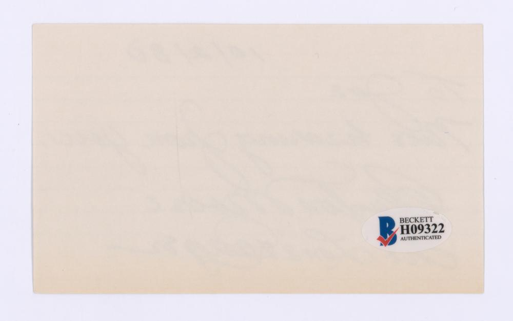 Lot 753: Clayton Moore Signed Index Card Lone Ranger