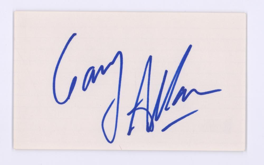 Lot 750: Gary Allen Signed Index Card Beckett COA