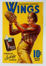 Lot 761: Wings Cigarettes Football Advertising Sign