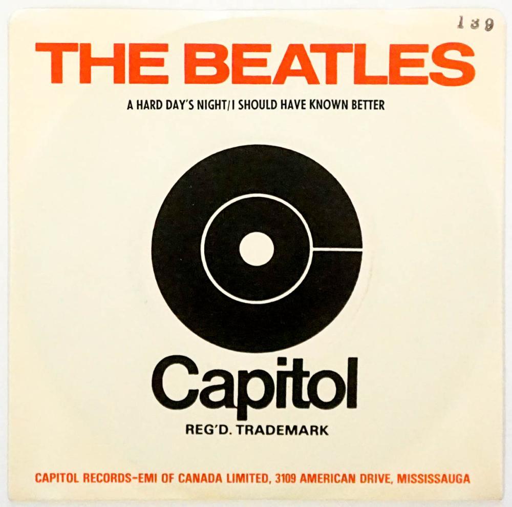 Beatles Hard Days Night 45 RPM Record