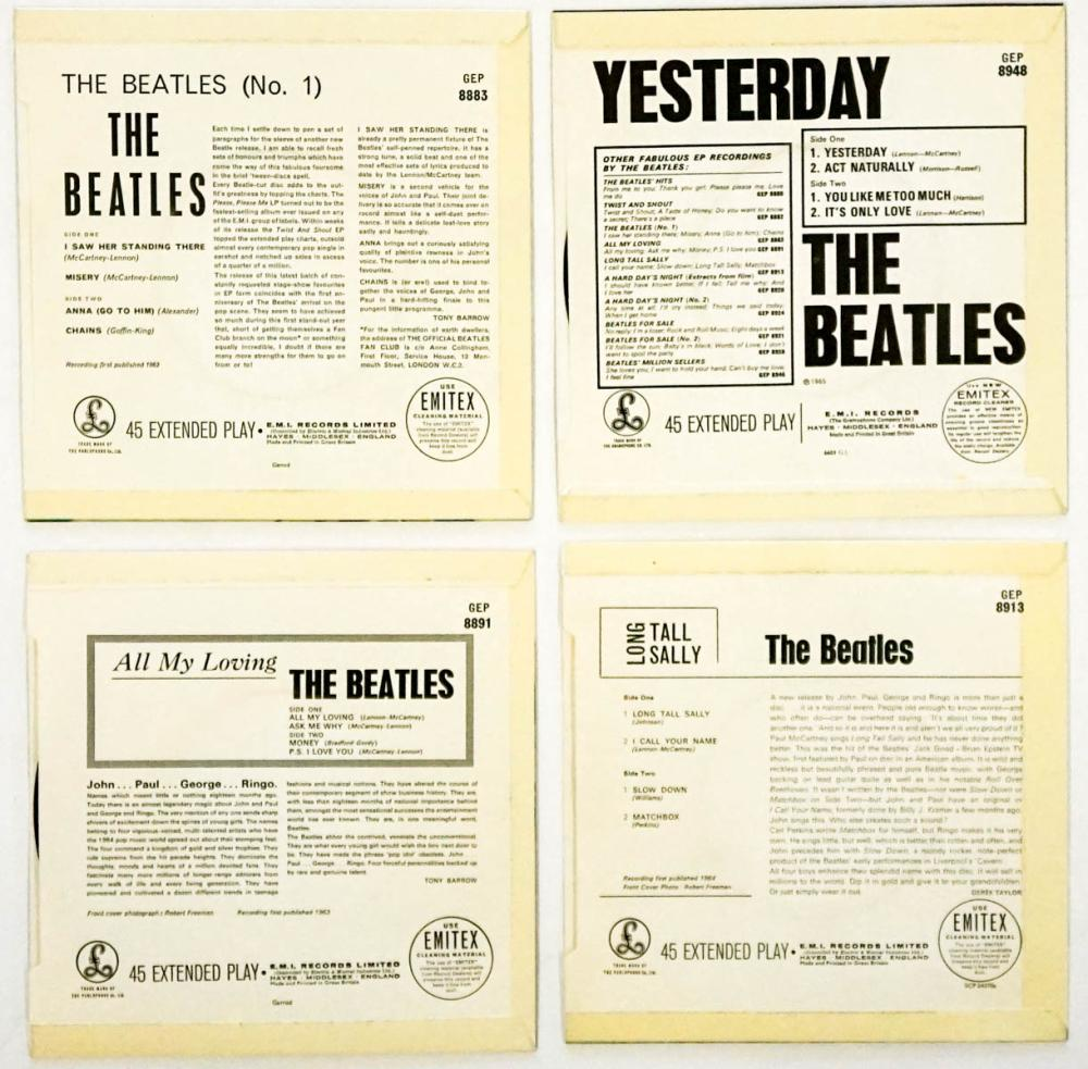 Lot 59: The Beatles (4) 45 RPM Records