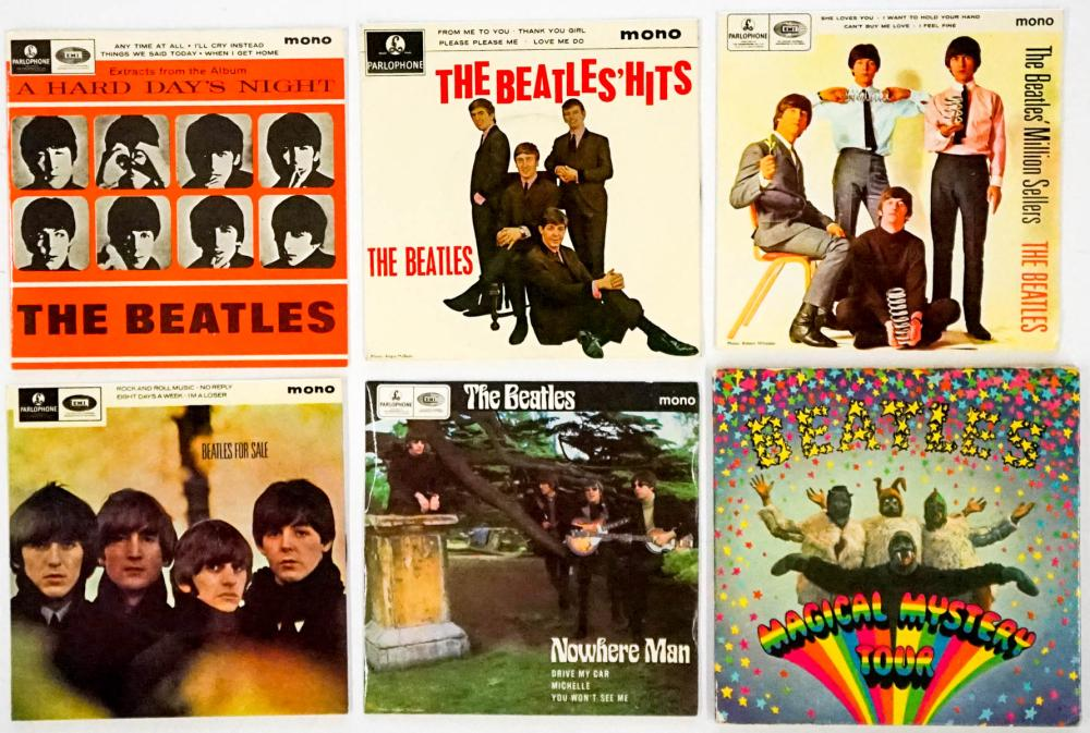 The Beatles (7) 45 RPM Records