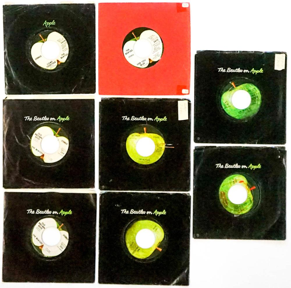 The Beatles on Apple (8) 45 RPM Records