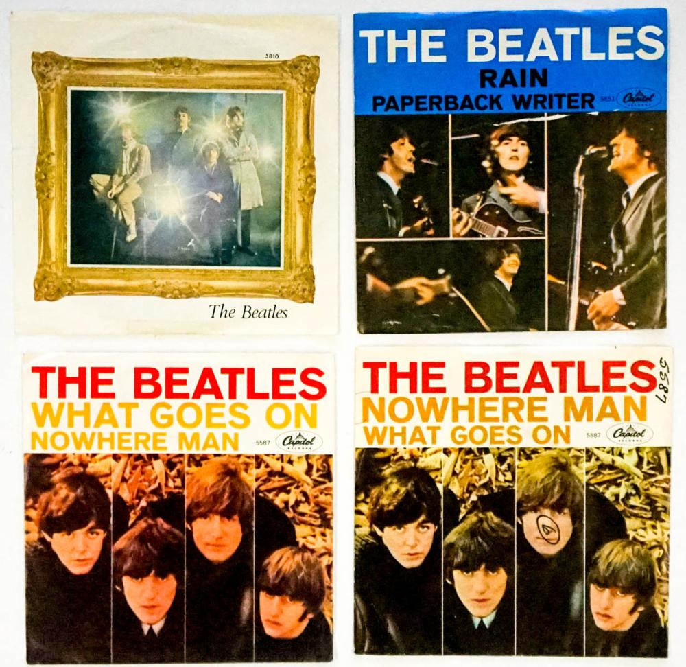 The Beatles (4) 45 RPM Records