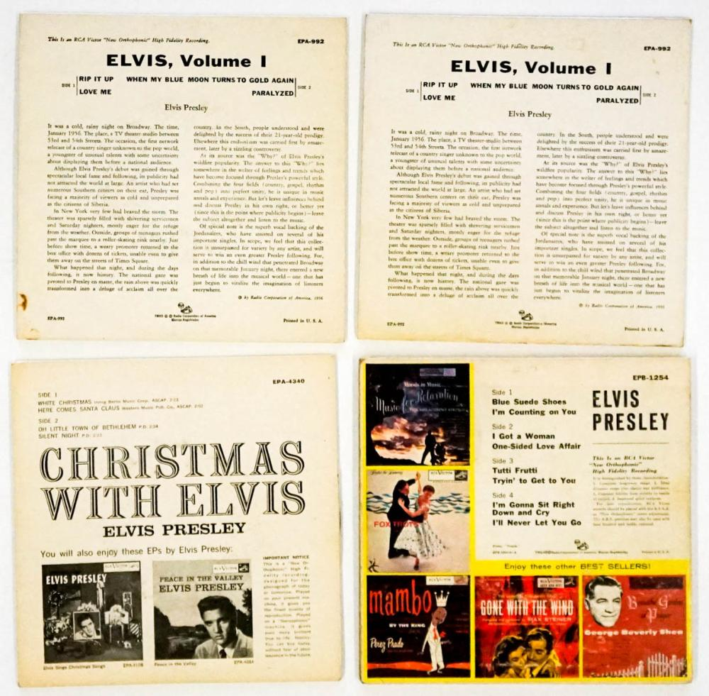 Lot 69: Elvis Presley (4) 45 RPM, Plus (1) Sleeve Only