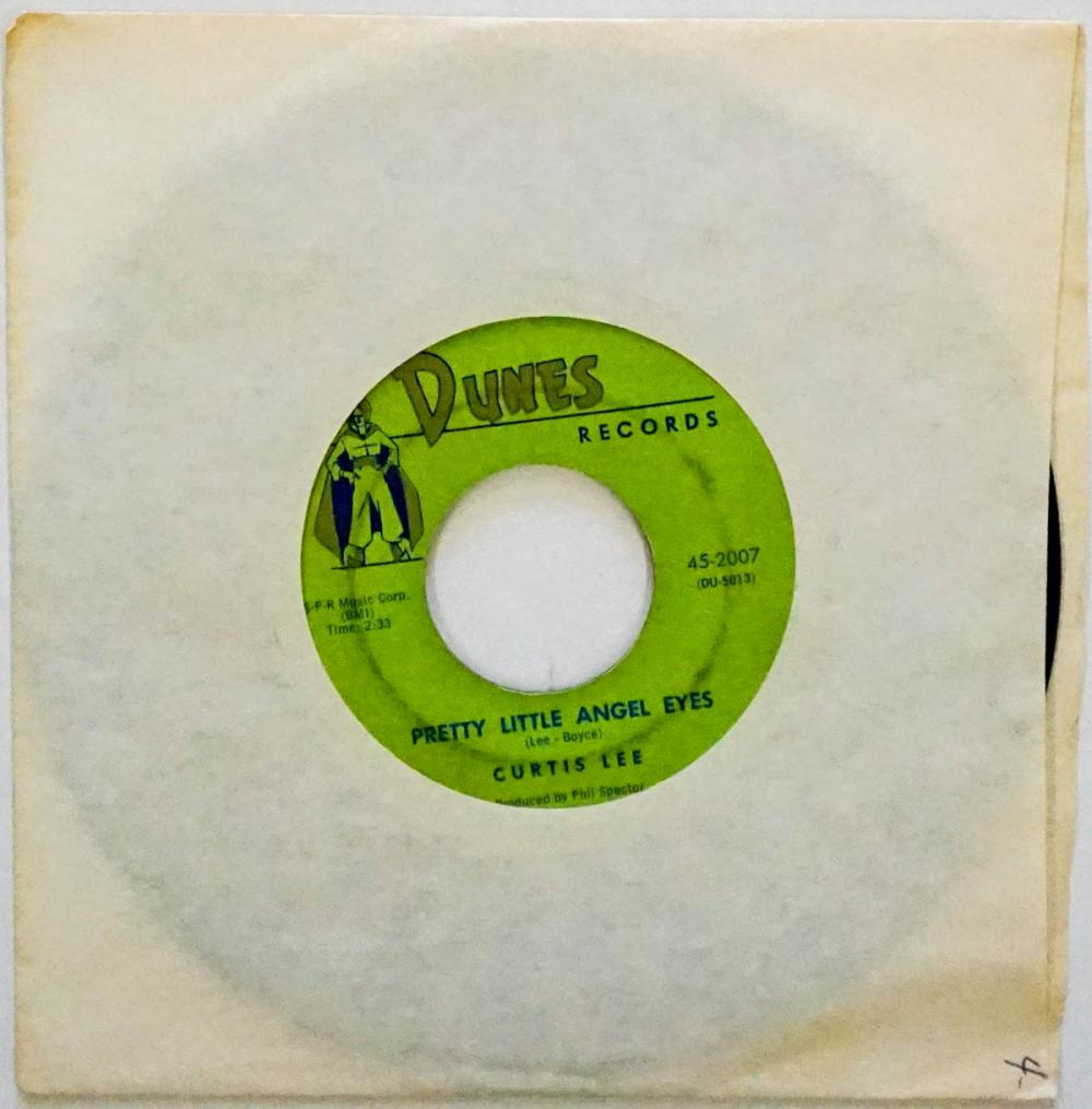 Lot 83: Curtis Lee 'Pretty Little Angel Eyes' 45 RPM
