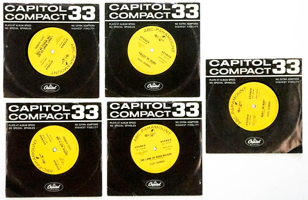 Fats Domino (5) 33 1/3 RPM Records
