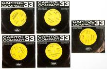 Lot 77: Fats Domino (5) 33 1/3 RPM Records