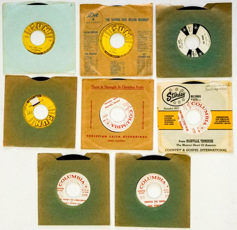 Carl Perkins (8) 45 RPM Records