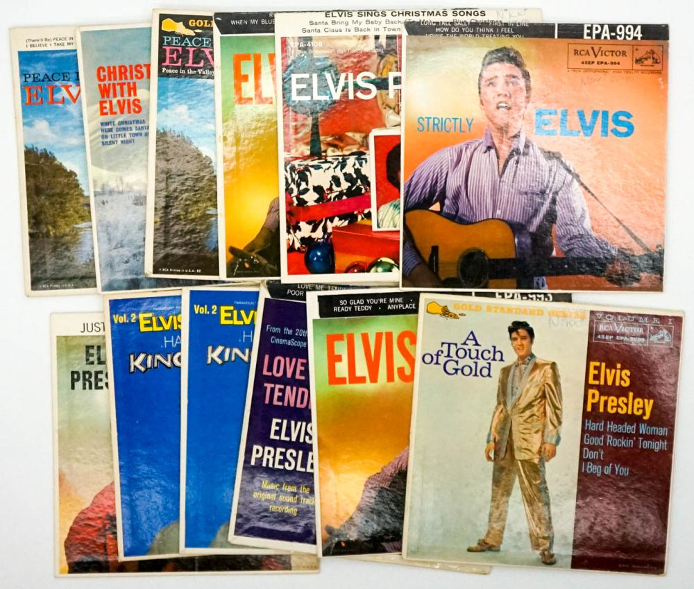 Elvis Presley (11) 45 RPM and (1) Cover