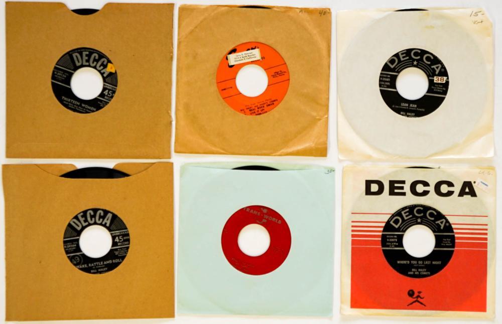 Bill Haley (6) 45 RPM Records