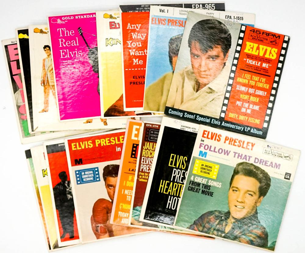 Lot 89: Elvis Presley (16) 45 RPM Records