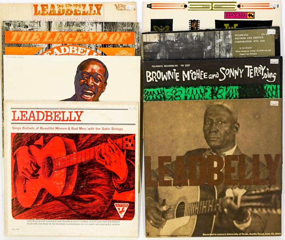 Vintage Blues LP's (8) Albums; Huddie Ledbetter