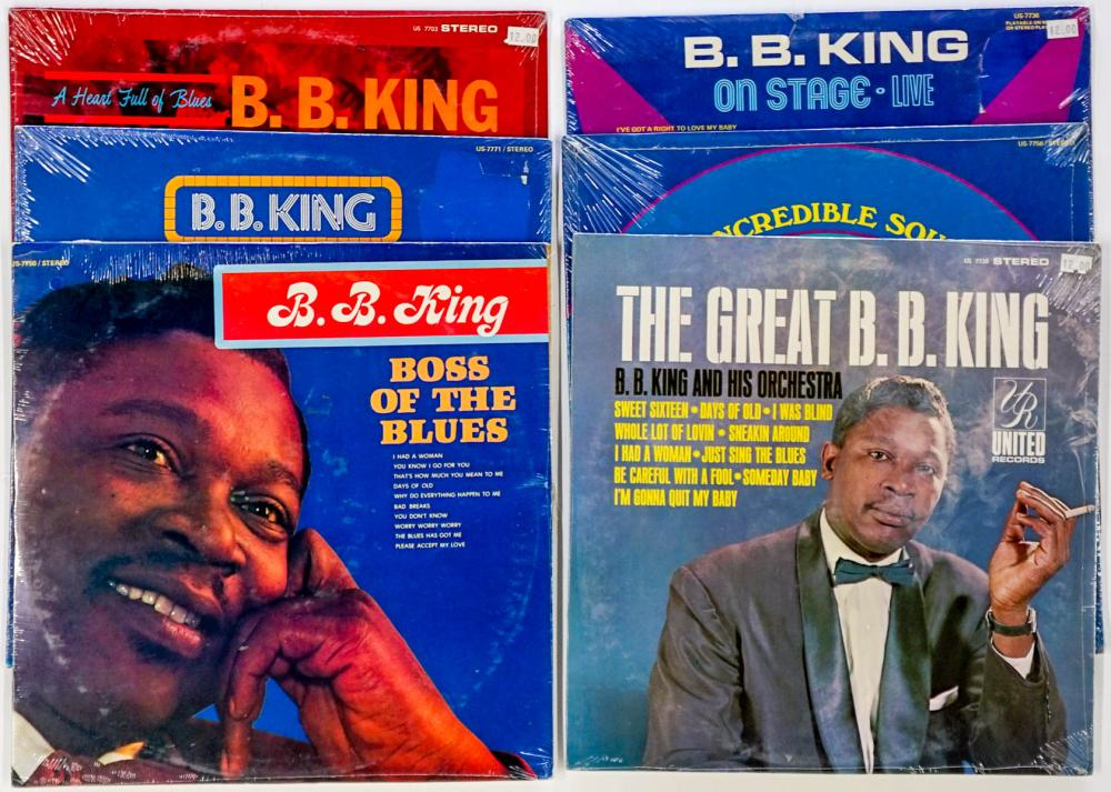 Lot 103: B. B. King (6) Factory Sealed Albums