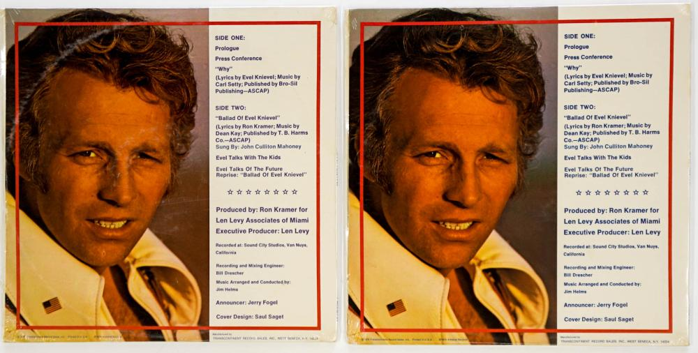 Lot 117: Evil Knievel (2) Albums with Autographed Photo