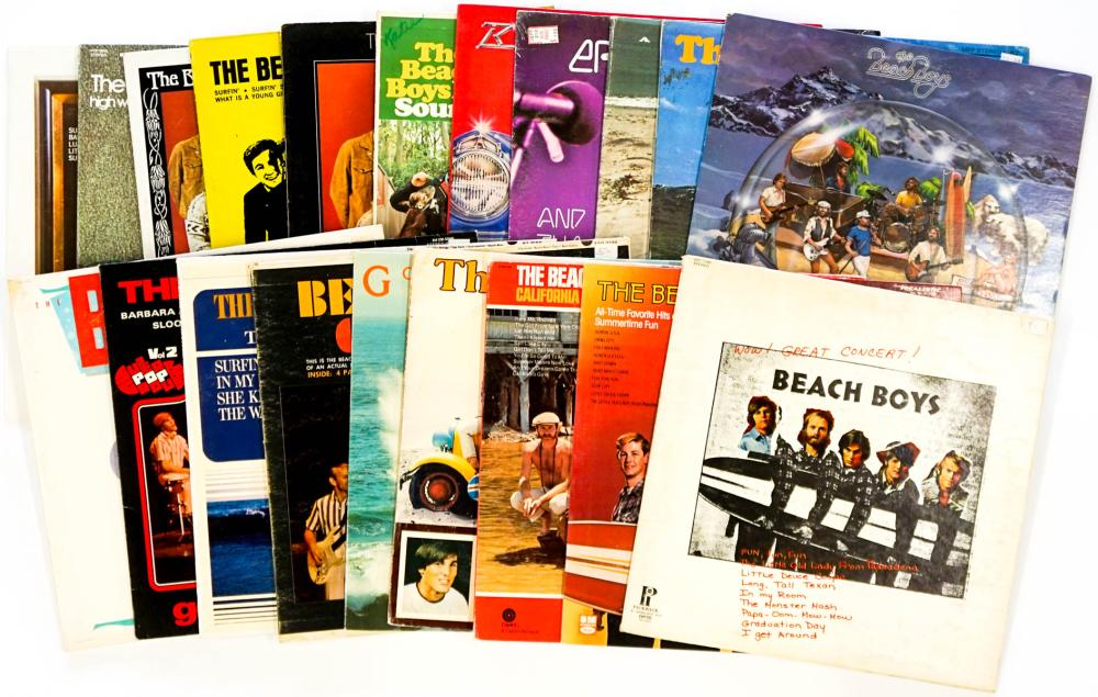 Lot 122: The Beach Boys Vinyl LP's (45) Records