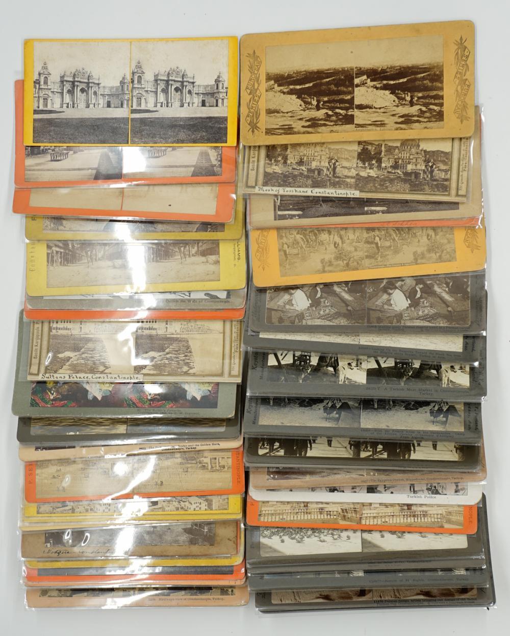 Lot 298: Antique Stereoviews [Travel Set ] (66)