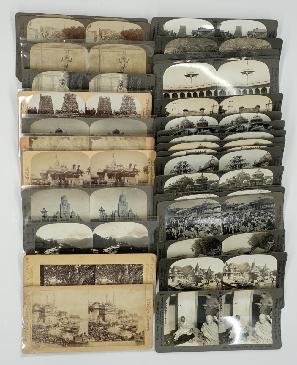Lot 299: Antique Stereoviews [Travel Set ] (102)