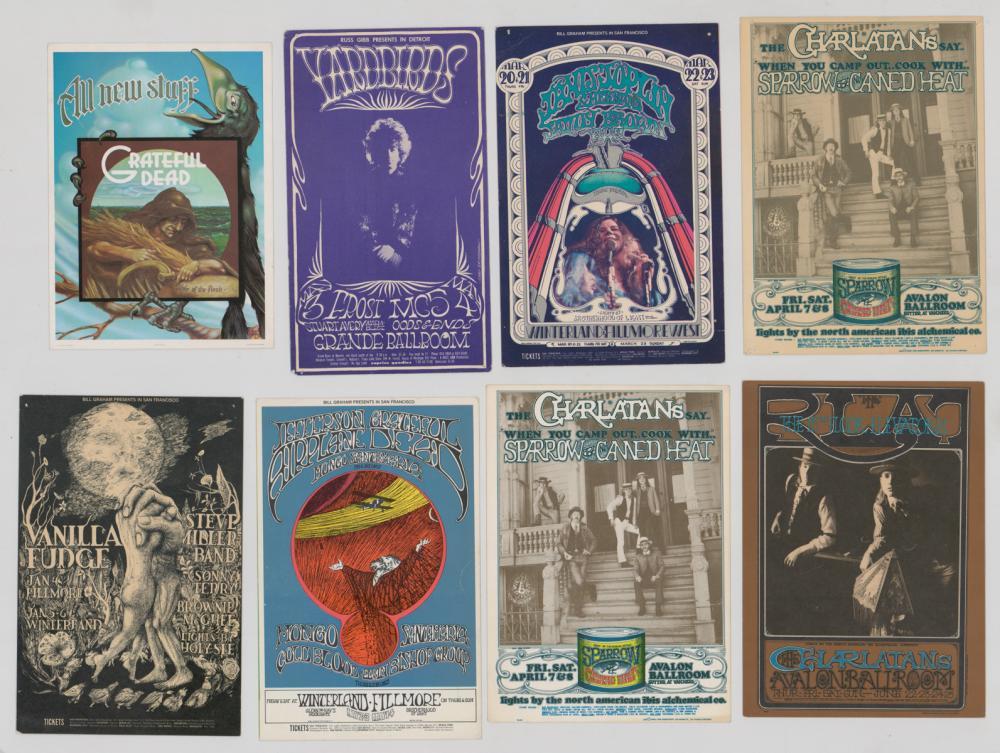 Bill Graham Rock 'n Roll Postcards (8)