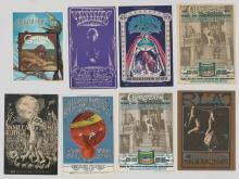 Lot 64: Bill Graham Rock 'n Roll Postcards (8)