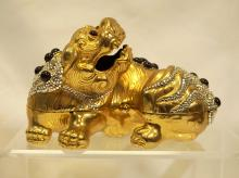 Judith Leiber Foo Dog Minaudiere, 6 x 4 inches