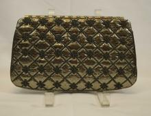 Judith Leiber Quilted Satin Evening Bag