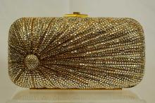 Judith Leiber Crystal Evening Bag Rising Sun