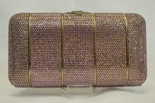 Judith Leiber Pink Crystal Evening Bag