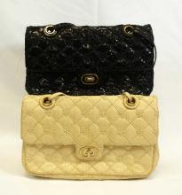 Judith Leiber Pair of Snakeskin Evening Bags