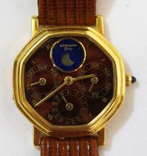 Gerald Genta 18k Automatic Gold Watch