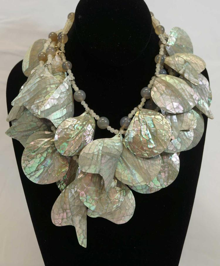 Stephen Dweck Signed Abalone Shell Bead Jewelry