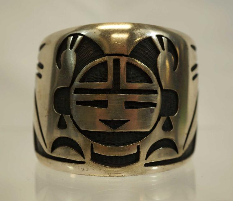 Bernard Dawahoya Vintage Signed Hopi Cuff Bracelet