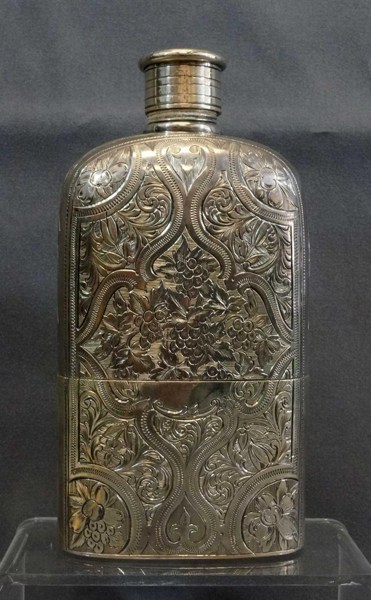 John Kilpatrick London Sterling Flask, ca.1863