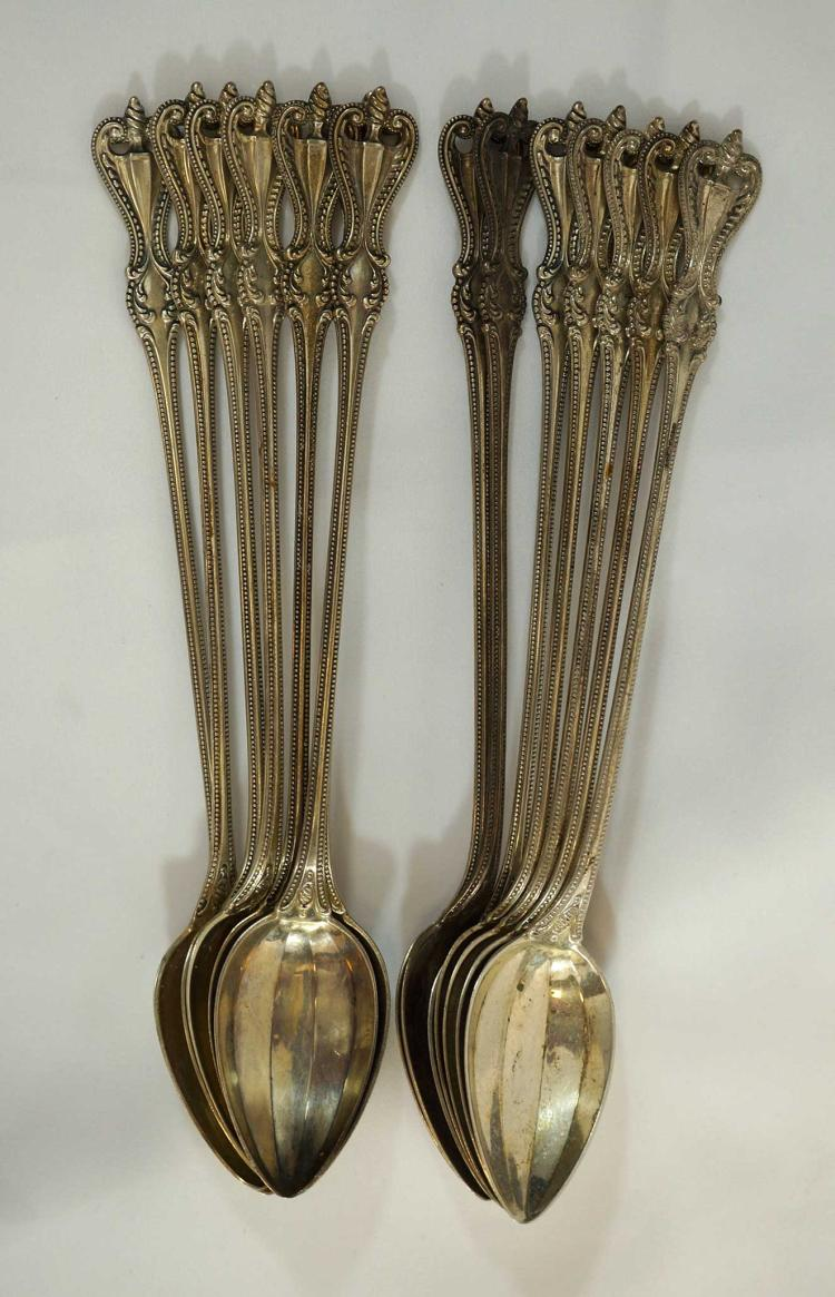 Towle Old Colonial Sterling Iced Tea Spoons (14)