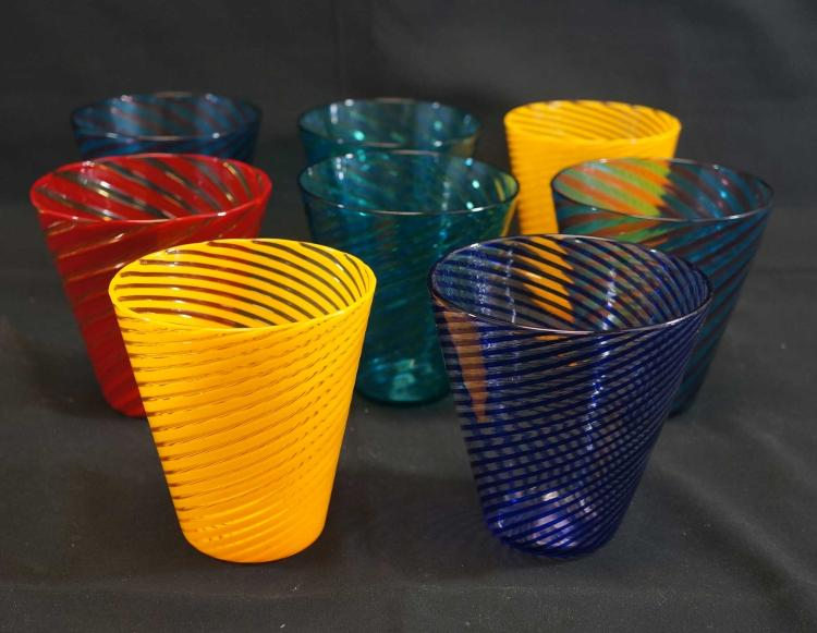 AGS Art Glass Studio Drinking Glasses (8)