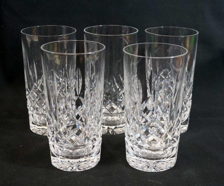 Waterford Lismore Straight Hi-Ball Glasses (5)